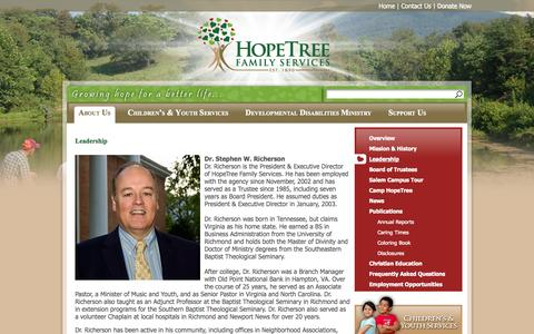 Screenshot of Team Page hopetreefs.org - Leadership | HopeTree Family Services - captured Oct. 3, 2014