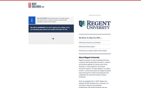 Regent University - Request Information