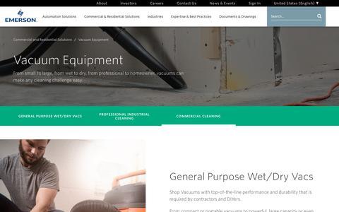 Screenshot of emerson.com - Vacuum Equipment - captured Dec. 12, 2017