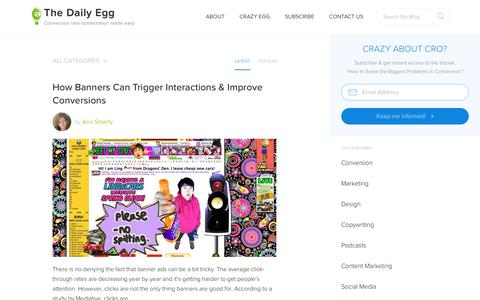 Screenshot of Blog crazyegg.com - Conversion Optimization and A/B Testing Tips from Crazy Egg - captured July 17, 2016