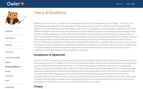 Owler: terms & conditions