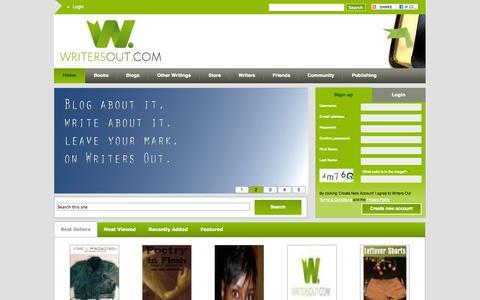 Screenshot of Signup Page writersout.com - Home | writersout.com - captured Sept. 19, 2014