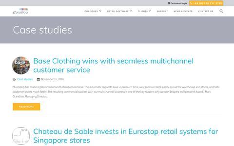 Screenshot of Case Studies Page eurostop.com - Case studies Archives - Eurostop - captured Dec. 26, 2016