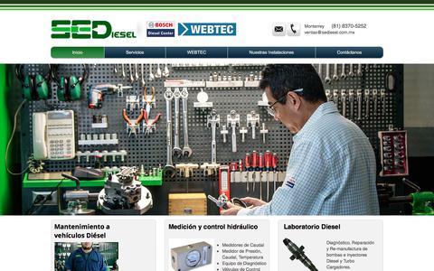Screenshot of Home Page sediesel.com.mx - Laboratorio y Taller Diesel - Monterrey - SEDiesel BOSCH Diesel Center - captured Sept. 29, 2017