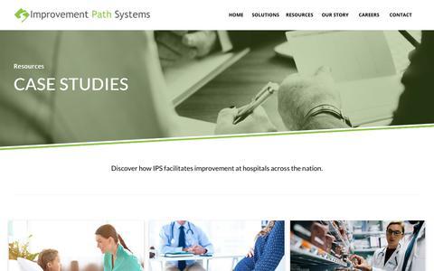 Screenshot of Case Studies Page improvementpathsystems.com - Case Studies - Improvement Path Systems - captured Nov. 6, 2018