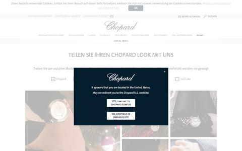 Screenshot of Press Page chopard.de - Chopard Social Wall | Chopard Official Website - captured Dec. 31, 2016