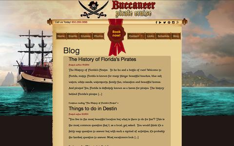 Screenshot of Blog destinpirateship.com - Blog - Destin Pirate Cruise - captured Feb. 8, 2016