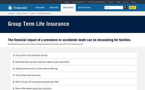 Group Insurance Term Life Insurance | Prudential Financial