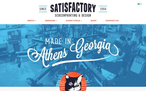 Screenshot of Home Page satisfactoryprinting.com - Satisfactory Printing • Satisfactory Screen Printing - captured Oct. 4, 2017