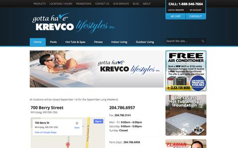 Screenshot of Locations Page krevco.com - Locations - captured Oct. 6, 2014