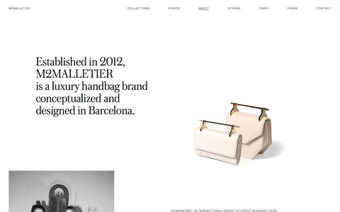 Screenshot of About Page m2malletier.com - About \ M2Malletier Luxury Leather Bags - captured Sept. 27, 2016