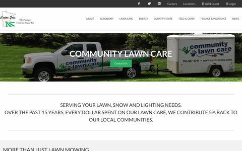 Screenshot of Signup Page centrasota.com - Lawn Care - Centra Sota Coop - captured Sept. 29, 2018