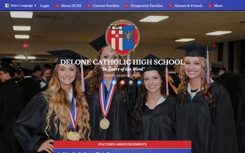Screenshot of Home Page delonecatholic.org - Home Page - Delone Catholic High School - captured Nov. 24, 2016
