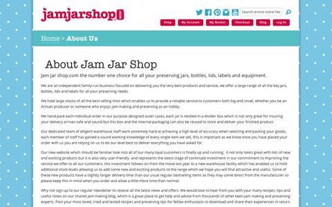 Screenshot of About Page jamjarshop.com - About Us | Jam Jar Shop - captured Oct. 19, 2018