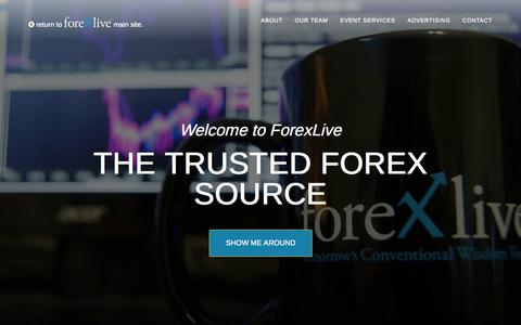 Screenshot of About Page forexlive.com - About Us Discover ForexliveForexlive - captured Oct. 22, 2015