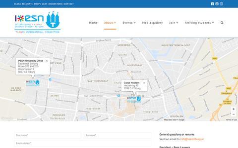 Screenshot of Contact Page iesntilburg.nl - Contact - I*ESN Tilburg - captured May 25, 2017