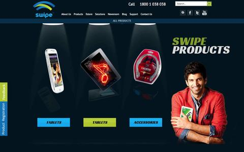 Screenshot of Products Page swipetelecom.com - Our Products | Tablets | Fablets | 5 Inch Smartphone - captured Oct. 22, 2014