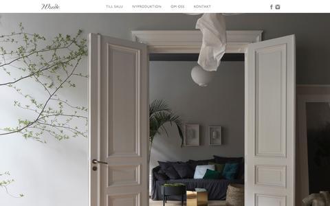 Screenshot of Home Page wrede.se - Wrede Fastighetsmäkleri - captured Feb. 15, 2016