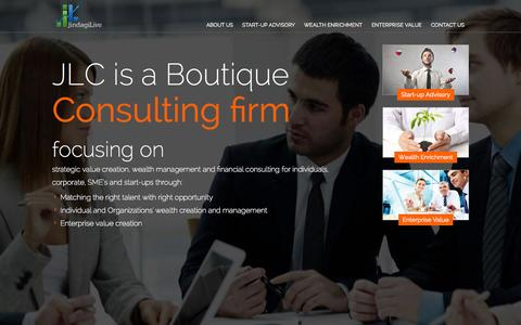 Screenshot of Home Page jindagilive.in - Boutique consulting firms, Management Consulting Firm - Jindagi Live - captured Oct. 6, 2014