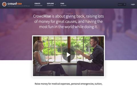 Screenshot of About Page crowdrise.com - About Crowdrise - captured Dec. 15, 2015