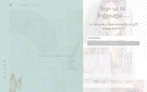 Screenshot of Home Page urbansno.com - Urban Snö - Social Media & Content Marketing - captured July 17, 2019