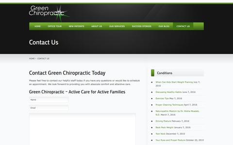 Contact Us | Green Chiropractic