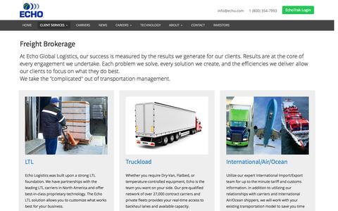Freight Brokerage - Echo.com