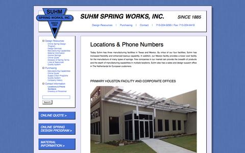 Screenshot of Locations Page suhm.net - Locations & Phone Numbers - captured Oct. 7, 2014