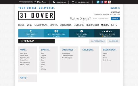 Screenshot of Site Map Page 31dover.com - Site Map - captured Sept. 10, 2014