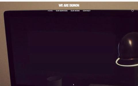 Screenshot of Home Page wearedemon.co.uk - Digital Marketing & Website Design Hull - Design and Print - captured Jan. 10, 2016