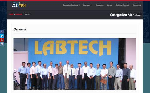 Screenshot of Jobs Page labtech.org - Careers at Labtech, Jobs Creation, Indonesia Asia Office   Labtech International - captured Sept. 26, 2018