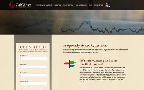 Screenshot of FAQ Page calchoiceinvestments.com - FAQs | CalChoice Investments | Chino Hills, California - captured Sept. 26, 2018
