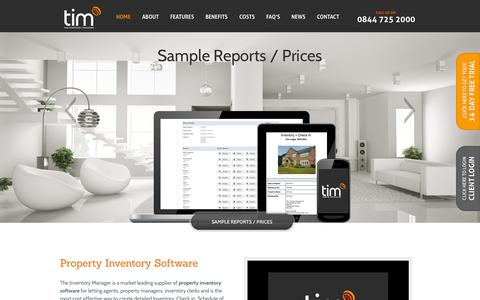 Screenshot of Home Page theinventorymanager.co.uk - Inventory Software | Property Inventory Software App - captured Sept. 30, 2014