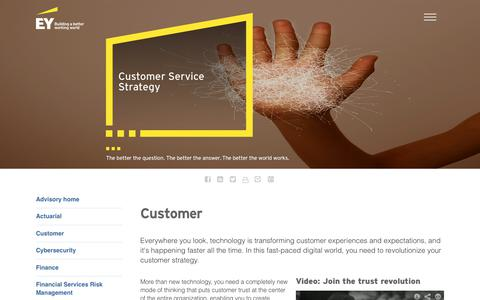 Screenshot of Services Page ey.com - Customer Service Strategy for Sustainiable Business Growth - EY India - EY - India - captured Oct. 3, 2017