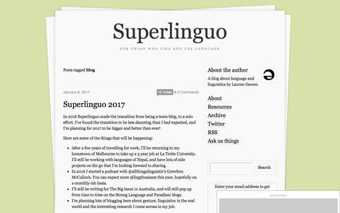 Screenshot of Blog superlinguo.com - Superlinguo - captured Jan. 31, 2017