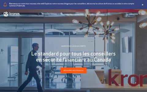 Kronos Technologies - Investissez là où ça compte