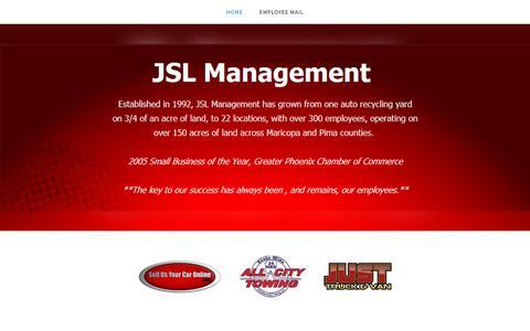Screenshot of Home Page jslmgmt.com - JSL Management - captured Oct. 19, 2018