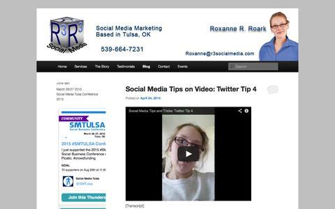 Screenshot of Blog r3socialmedia.com - R3 Social Media's Social Media Tips and Tricks   R3 Social Media - captured Oct. 9, 2014