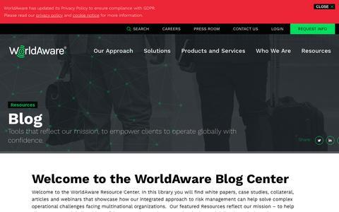 Screenshot of Blog ijet.com - Blog | WorldAware - captured June 25, 2019
