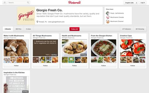 Screenshot of Pinterest Page pinterest.com - Giorgio Fresh Co. on Pinterest - captured Oct. 22, 2014