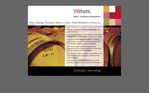 Screenshot of Home Page vinhotti.com - Vinhotti Wine and Business Developers - captured Oct. 7, 2014