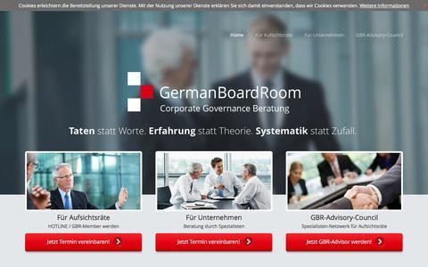 Screenshot of Home Page germanboardroom.com - Startseite- GermanBoardRoom - captured Jan. 22, 2016