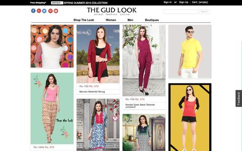 Screenshot of Home Page thegudlook.com - Online Shopping India | Shop Fashion Apparel For Men & Women | Street Fashion Online - thegudlook - captured Oct. 1, 2015