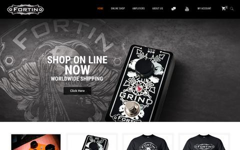 Screenshot of Home Page fortinamps.com - Fortin Amplification - captured Nov. 25, 2016