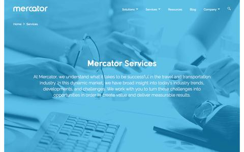 Screenshot of Services Page mercator.com - Services for maximizing efficiency & increasing profits - captured Nov. 19, 2016