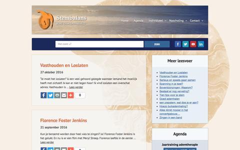 Screenshot of Blog stembalans.nl - Blog zangopleiding - captured June 17, 2017
