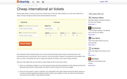Cheap Domestic Air Tickets, Cheap Domestic Flight Tickets Booking at Cleartrip