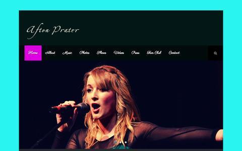 Screenshot of Home Page aftonprater.com - Afton Prater – Official Website | - captured Jan. 26, 2015