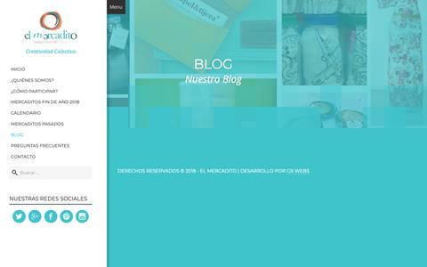 Screenshot of Blog elmercaditocr.com - Blog - El Mercadito CR - captured Sept. 27, 2018