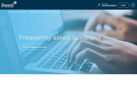 Screenshot of FAQ Page iheed.org - Frequently Asked Questions - iheed - iheed - captured Oct. 13, 2018